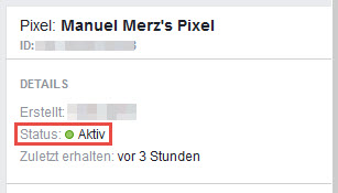 Aktiver Facebook Pixel