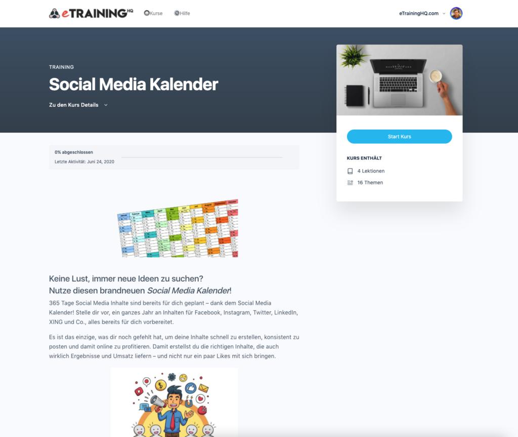 Reto Stuber's Social Media Kalender